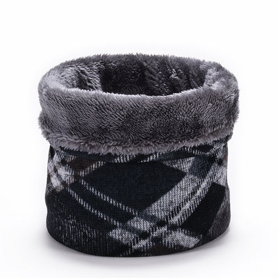 Cole Plaid Knit Fleece Neck Warmer, Men's Accessories, BEL EPOQ