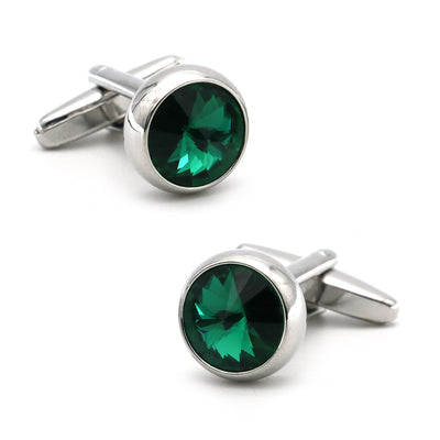 Orion Emerald Round Cufflinks, Men's Jewellery, BEL EPOQ