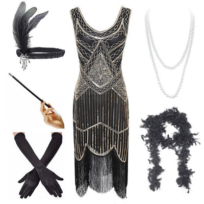 Opal Roaring '20s Flapper Dress + Accessories, Women's Dresses, BEL EPOQ