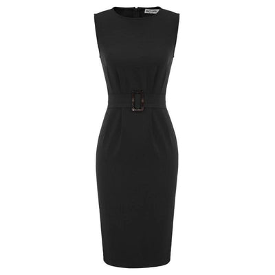 Vivien Belted Pencil Dress, Women's Dresses, BEL EPOQ