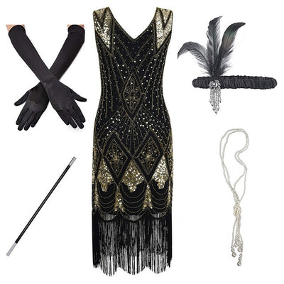 Clara Roaring '20s Flapper Dress, Women's Dresses, BEL EPOQ