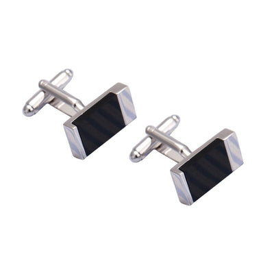 Monochrome Modernist Cufflinks, Men's Jewellery, BEL EPOQ