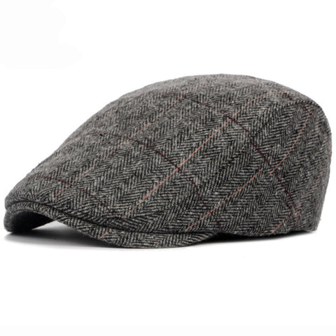 St John Wool Tweed Flat Cap, Men's Accessories, BEL EPOQ
