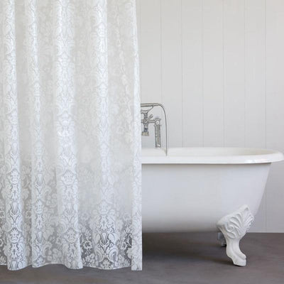 Celine Damask Clear Shower Curtain, Bath, BEL EPOQ