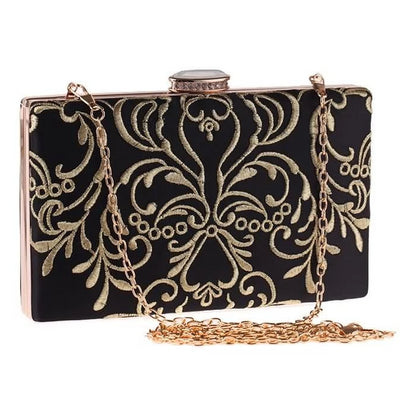 Catharina Baroque Embroidered Clutch Bag, Women's Bags, BEL EPOQ