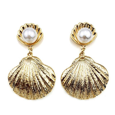Venus Pearl Clamshell Earrings, Women's Jewellery, BEL EPOQ