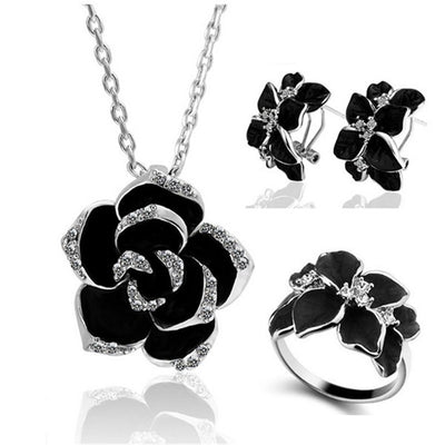 Blair Crystal Rose Jewellery Set, Women's Jewellery, BEL EPOQ