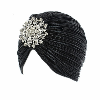 Brilliant Jewel Metallic Turban, Women's Accessories, BEL EPOQ