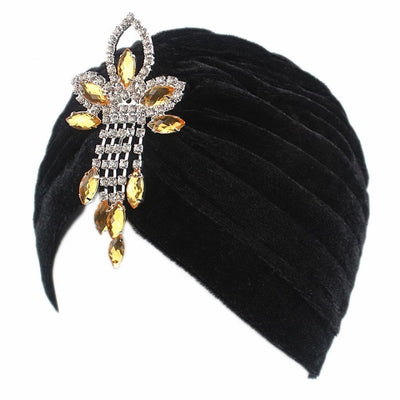 Ornate Jewel Velvet Turban, Women's Accessories, BEL EPOQ