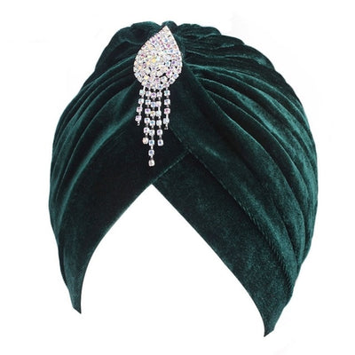 Teardrop Jewel Velvet Turban, Women's Accessories, BEL EPOQ