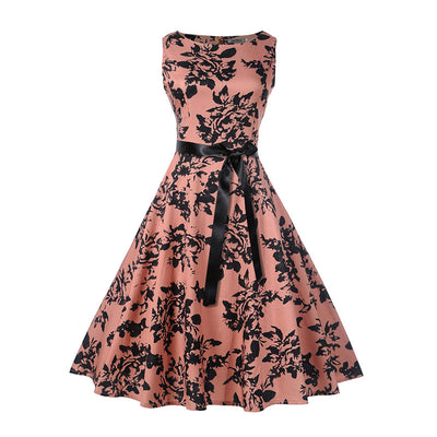 Caroline Floral 50s Swing Dress, Women's Dresses, BEL EPOQ
