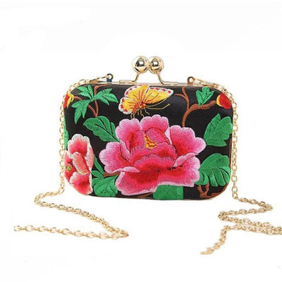 Tropicana Embroidered Clutch Bag, Women's Bags, BEL EPOQ