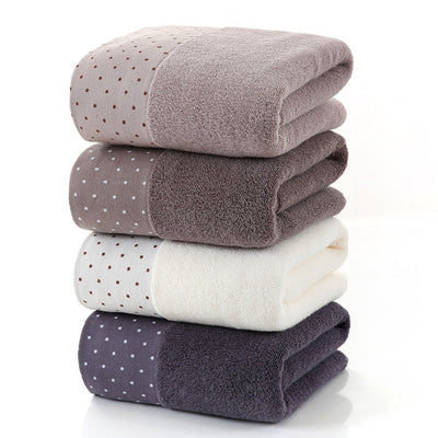 Lane Polka Dot Cotton Hand + Bath Towels, Bath, BEL EPOQ