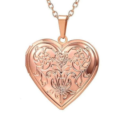 Lydia Antique Heart Locket Pendant Necklace, Women's Jewellery, BEL EPOQ