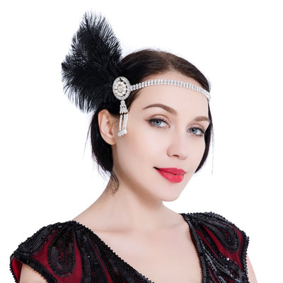 Violet Roaring '20s Flapper Headband, Women's Accessories, BEL EPOQ