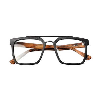 Sergio Wood Wayfarer Clear Glasses, Men's Accessories, BEL EPOQ