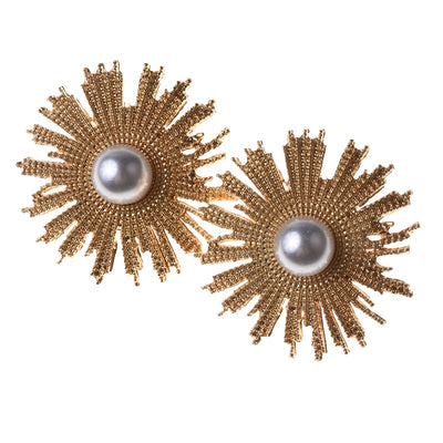 Soleil Lune Deco Pearl Earrings, Women's Jewellery, BEL EPOQ