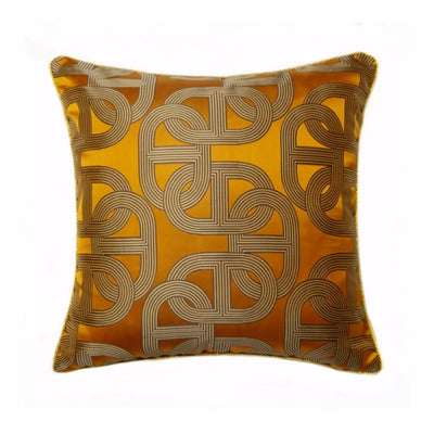 El Sol Geometric Jacquard Cushion Cover, Accents, BEL EPOQ