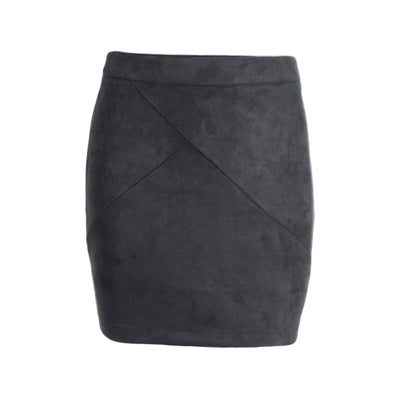 Annelise Faux Suede Panel Mini Skirt