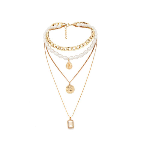 Gia Pearl Pendant Layer Necklace