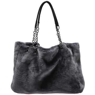 Olivia Faux Fur Chain Tote Bag, Women's Bags, BEL EPOQ