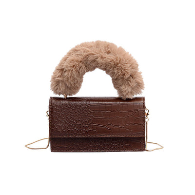 Esther Faux Fur Mock Croc Handbag, Women's Bags, BEL EPOQ