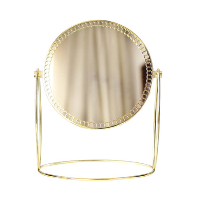 Anais Gold Double-Sided Round Stand Mirror, Beauty Accessories, BEL EPOQ
