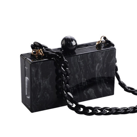 Midnight Sky Marble Clutch Bag, Women's Bags, BEL EPOQ