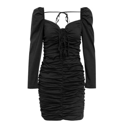 Loren Puff Sleeve Lace-Up Mini Dress, Women's Dresses, BEL EPOQ