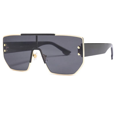 Mika T-Bar Rivet Shield Sunglasses