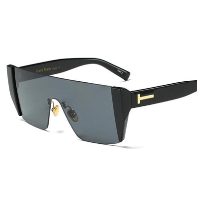 Luca Rimless Square Shield Sunglasses, Men's Accessories, BEL EPOQ