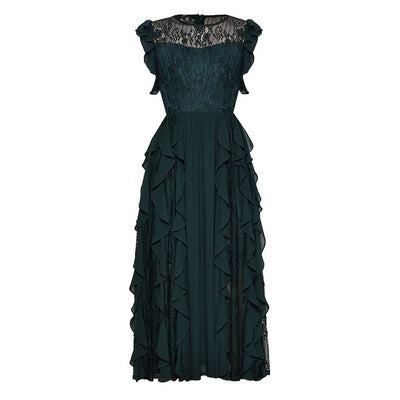 Leda Victorian Lace Ruffle Tea Dress, Women's Dresses, BEL EPOQ