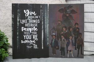 Stranger Things Double-sided Sturdy Thick Art Print