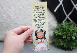 Mark 11:24 - Bible Verse Bookmark