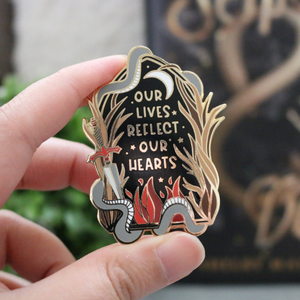 Our Lives Enamel Pin - Serpent & Dove