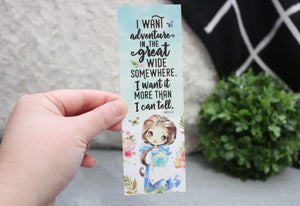 Belle - I Want Adventure Bookmark
