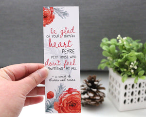 Be Glad Of Your Human Heart Bookmark - Court Book Series