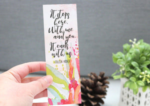It Ends With Us Bookmark - Colleen Hoover