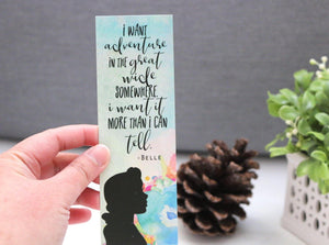 I Want Adventure Bookmark - Beast and Beauty