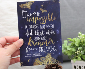 It Was Impossible - Mini 4x6 Art Print - Strange the Dreamer