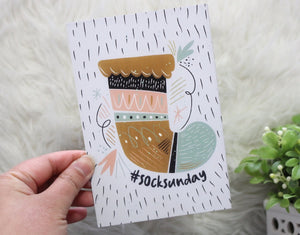 Sock Sunday 4x6 Art Print
