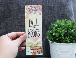 Fall Into Books Bookmark