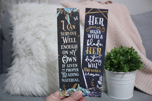 Throne of Glass Double-sided Sturdy Bookmark - Soft Touch Finish