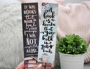 Book Quotes Double-sided Sturdy Bookmark - Soft Touch Finish