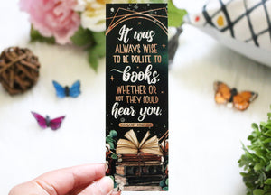 It Was Always Wise Bookmark - Sorcery of Thorns