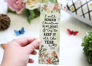 I Will Honour Christmas Bookmark - Christmas Edition