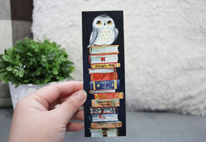 Owl and Books Bookmark