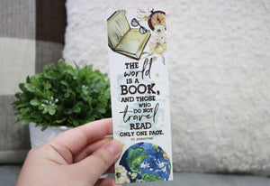 The World Is A Book Bookmark