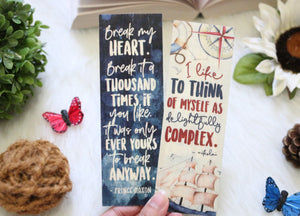 Maxon/Nikolai Double-sided Wooden Bookmark