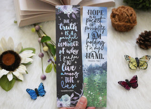Tahereh Mafi Double-sided Sturdy Bookmark - Soft Touch Finish